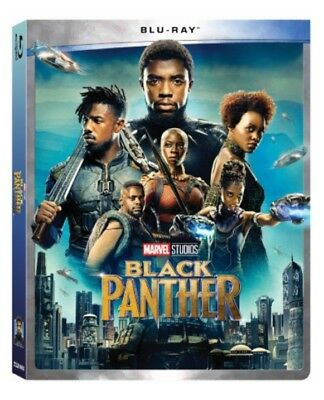 Black Panther Blu-ray + Slipcover Brand New FAST Free Shipping