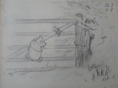 Signed EH Shepherd Pooh Sketch - ch I p8