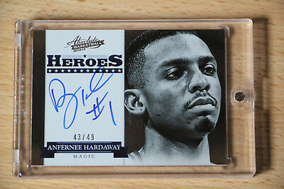 2012-13 Absolute Heroes Autographs Anfernee Penny Hardaway Auto On Card/49