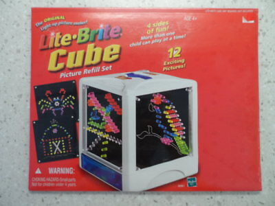 Lite Brite Cube Picture Refill Set New Mint Unopened 12 Exciting Pictures