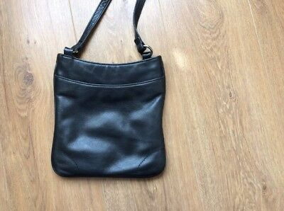Black Leather Cross Body Small Bag. Buy It Now.