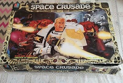 Vintage Space Crusade Board Game,Mb Games With Instructions with figures