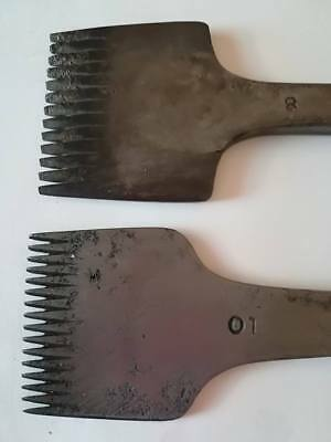 2 Pricking Irons by J Dixon. No 8 and No 10. Leather worker, cobbler, sadler