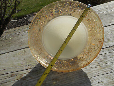 Antique Clear Yellow Glass Victorian Ceiling Light Fixture Globe Frosted Shade