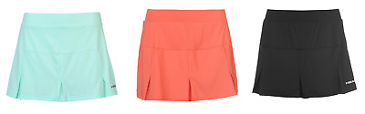 Head Club Ladies Tennis Skort Turquoise Orange Black Sizes 8 - 14 Skirt Shorts