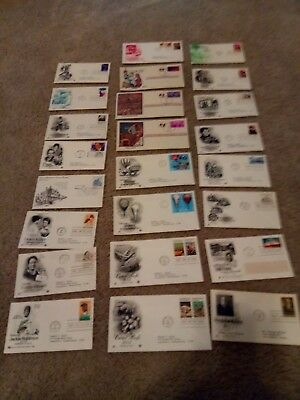 Lot Of 24 Vintage First Day Of Issue  Jackie Robinson Helen Keller and more-MINT