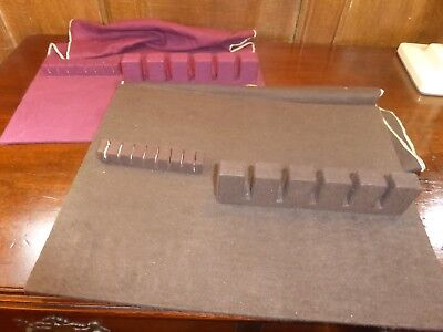 RARE American ANTI TARNISH SET of 2 STANDS/CLOTHS for SILVER OR PLATED CUTLERY