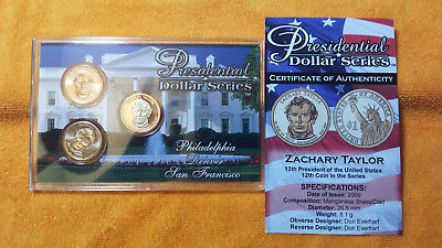 Zachary Taylor  - 3 Coin Set  P D S  Uncirculated And Proof