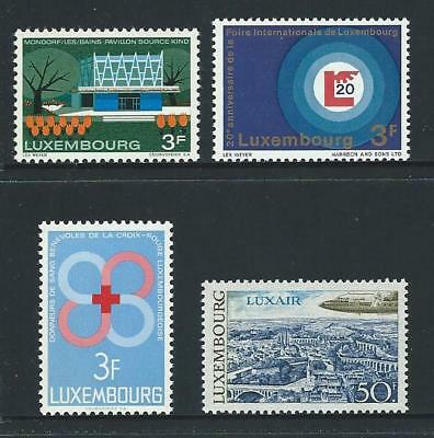 1968 LUXEMBOURG Pavilion,Fair,Red Cross & Luxair Issues MNH (Scott 468-469 etc.)