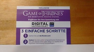 Game of Thrones 5. Staffel - Ultra Violet Code