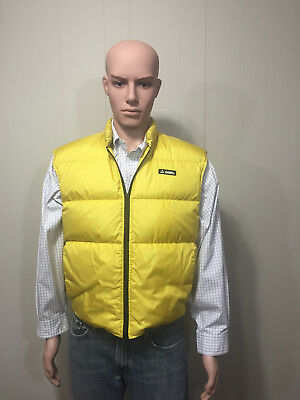"""Gerry"" Men's Waterproof Down Filled Golden Yellow Puffer Vest Med/Large? EUC!"
