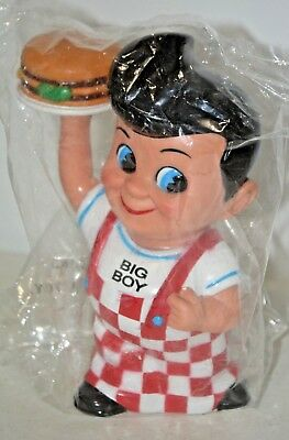 "1999  Bob's Big Boy 8"" Vinyl Figure Bank Elias Brothers Restraunts Funko~SEALED"