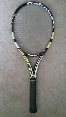 babolat aeropro drive, used, grip size 4 1/4, new strings