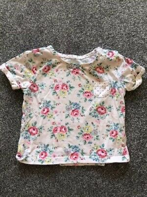 Cath Kidson Tshirt 6-12 Months Floral Baby Girl Top