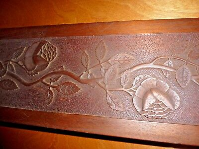"""Large 65"""" Antique Carved wood Architectural Salvaged Decorative floral Panel"""