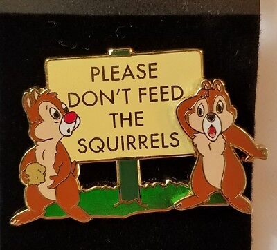 Disney Pin Le Chip & Dale Please Don't Feed The Squirrels Studios Burbank Wdsb
