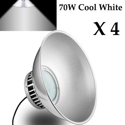 4X 70W LED High Bay Lights Warehouse Factory Commercial Shed Outdoor Fixtures US