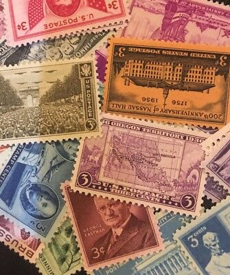 30 MNH OLD  and VINTAGE All Different 3 cent stamps