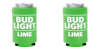 2 Pack New REAL DEAL Bud Light Lime CAN Koozie Coozie Coolie Michelob Ultra
