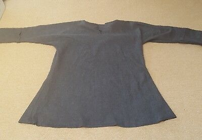 Viking Woollen Tunic in Grey Ideal for Stage, Re-enactment and Costume USED