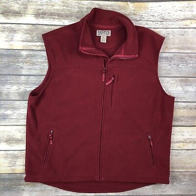 Duluth Trading XL Men's Shoreman's Fleece Windproof Vest Red Sleeveless