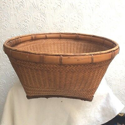 Antique Chinese Large Basket