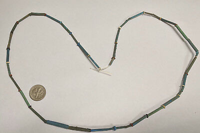 RESTRUNG 2500 Year old Ancient Egyptian Faience Mummy Bead Necklace (#K452)