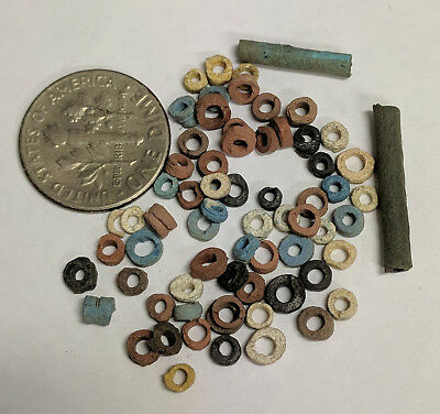 More than Fifty 2500 Year old Ancient Egyptian Faience Mummy Beads (K456)