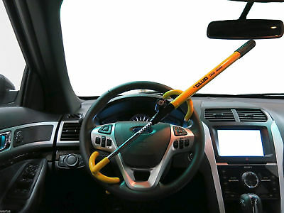 Twin Hooks Anti-Theft Steering Auto Vehicle Wheel Lock for for Car Van SUV Truck