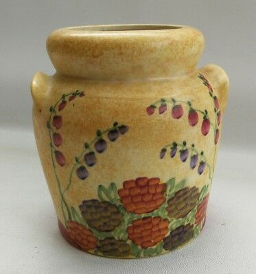Vintage 1930s Radford Art Deco Hand Painted Floral Design Milk Churn Shaped