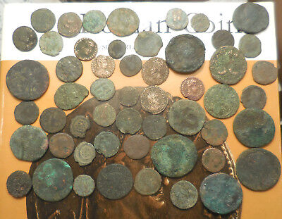 Nice Lot of +50 F-VF Ancient Romans Many High Resolution Photos, Fun Lot!