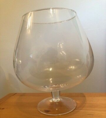 Large Clear Decorative Flower Vase Wine Glass Shape Table Centre