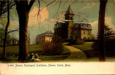 Postcard Newton Theological Institution Mass. 1910 Postmark