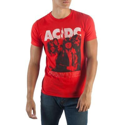 Authentic Licensed AC/DC Highway To Hell Band Photo Adult T-Shirt