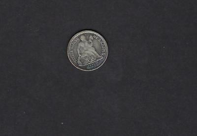 US 1875 Seated Liberty Dime Silver Coin F Fine Condition!
