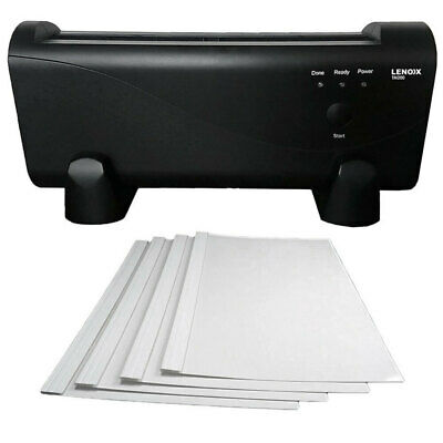 Lenoxx Electric A4/A5 Paper Thermal Binding Machine w 100 Binder Pouches/Covers