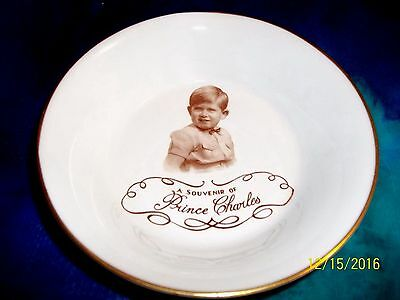 Rare 1953 Paragon Prince Charles Bowl And Plate - Marcus Adams Portrait