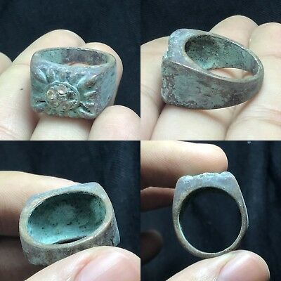 Very Old Ancient Byzantine Bronze Ring