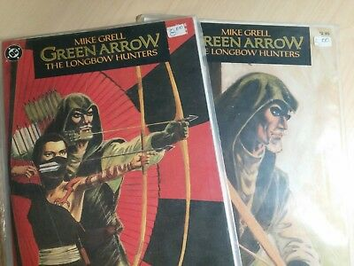 Dc Green Arrow The Longbow Hunters (M. Grell) Books 2-3 1987 Graphic Novel