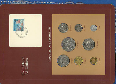 Coin Sets of All Nations Seychelles Maroon 1977 - 1982 UNC 5 cents 1982 10JA3