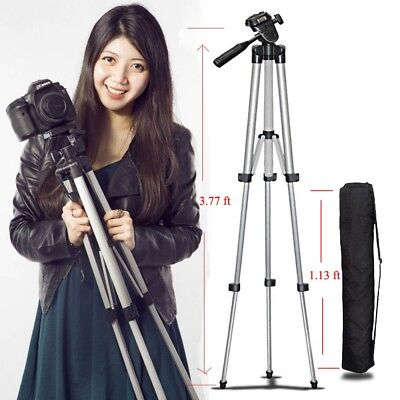 Digital Aluminum Camera Camcorder Portable Tripod Stand + Bag For Canon Nikon