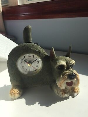 Critter Clock With Wagging Tail Schnauzer