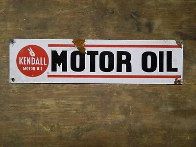 Authentic Vintage Look Kendall Motor Oil Advertising Sign Reproduction