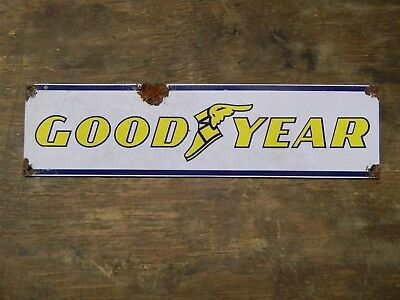 Authentic Vintage Look Goodyear Advertising Sign Reproduction