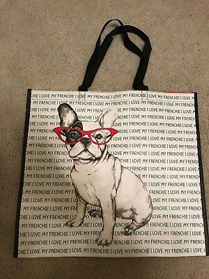 French Bulldog I Love My Frenchie Dog Tote Storage Shopping Bag Large Reusable
