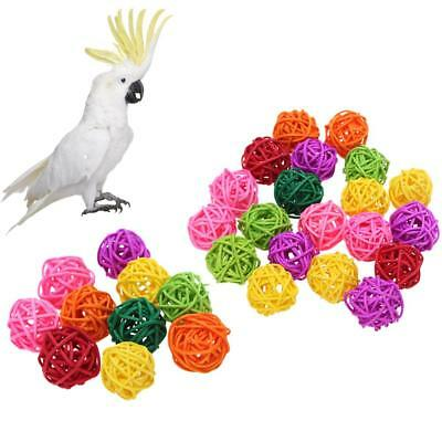 20pcs Bird Chewing Rattan Ball Parrot Funny Toys Pet Supplies Birdcage Decor