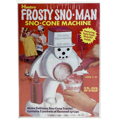 1970s Frosty Snowman SNO-CONE MACHINE Mint in Sealed Box OLD STORE STOCK Hasbro