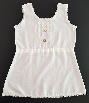 VINTAGE LITTLE GIRL'S HALF SLIP / VEST ~ Size 4, EXCELLENT CONDITION