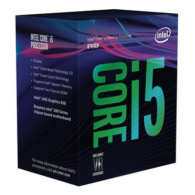Intel Core i5-8400 2.80GHz s1151 Coffee Lake 8th Generation Boxed + Optane 16GB