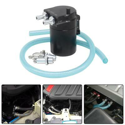 Aluminum Baffled Oil Catch Can Tank Reservoir Breather with 10/14mm Fittings